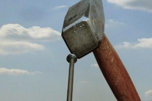 Hammer, Clou, Ciel, Bricolage, Nuages, Métal, Outil
